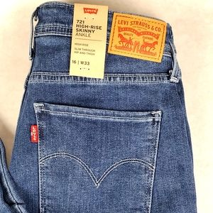 Levis 721 High-Rise Skinny Ankle cargo Jeans